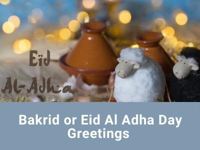 Bakrid or Eid Al Adha Day Greetings